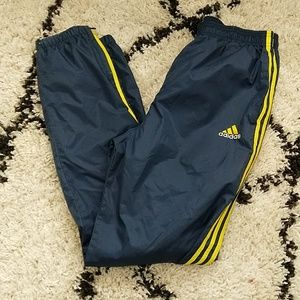Blue and yellow Vintage Nike sweatpants